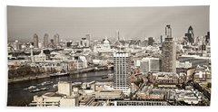 London Cityscape Beach Towel