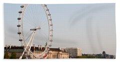 Beach Towel featuring the photograph London Eye Day by Matt Malloy