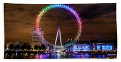 London Eye Pride Beach Towel by Matt Malloy