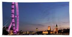 London Eye Beach Towel by Rod McLean