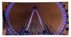 London Eye Supports Beach Towel by Matt Malloy