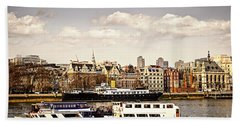 London From Thames River Beach Towel