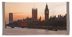 London Lights Beach Towel