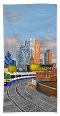 London Overland Train-hoxton Station Beach Towel