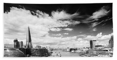 Beach Towel featuring the photograph London Panorama by Chevy Fleet