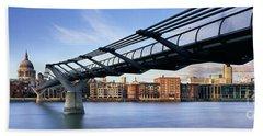 Millennium Bridge London 1 Beach Sheet by Rod McLean