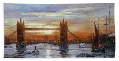 London Tower Bridge Beach Towel by Irek Szelag