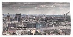 London Under Grey Skies Beach Towel