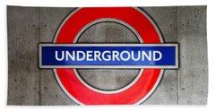 London Underground Sign Beach Sheet