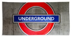 London Underground Sign Beach Towel