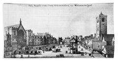 London View, 17th Century Beach Towel