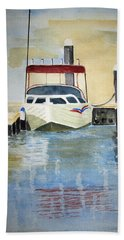 Lone Boat Beach Sheet by Elvira Ingram