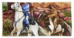 Lone Ranger And Tonto Ride Again Beach Sheet