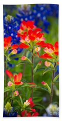 Lone Star Blooms Beach Towel