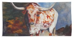 Lone Star Longhorn Beach Towel