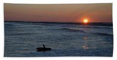 Lone Surfer Beach Towel