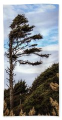 Beach Towel featuring the photograph Lone Tree by Melanie Lankford Photography