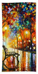 Loneliness Of Autumn Beach Towel