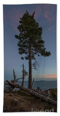 Lonely Tree Overlooking The Ocean Beach Towel