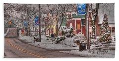 Long Grove In Snow Beach Sheet by David Bearden