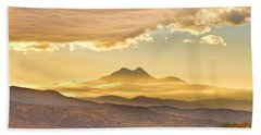 Longs Peak Autumn Sunset Beach Towel