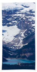 Looking Down At Lake Louise #2 Beach Towel