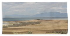 Beach Towel featuring the photograph Looking North From Antelope Island by Belinda Greb