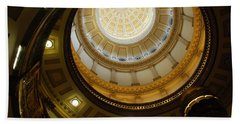 Looking Up The Capitol Dome - Denver Beach Towel