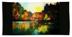 Autumn In Loon Country Ll Beach Towel