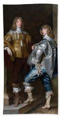 Lord John Stuart And His Brother, Lord Bernard Stuart C.1623-45 C.1638 Oil On Canvas Beach Towel