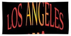 Los Angeles Beach Towel