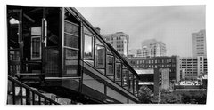 Beach Sheet featuring the photograph Los Angeles Angels Flight.bw by Jennie Breeze