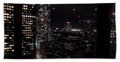Los Angeles Nightscape Beach Sheet