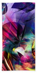Beach Towel featuring the digital art Lost In Hyperspace by David Lane