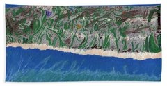 Beach Towel featuring the painting Lost Island by Kim Pate