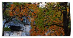 Fall Foliage At Lost Maples State Natural Area  Beach Sheet
