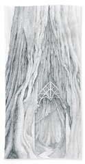 Lothlorien Mallorn Tree Beach Sheet