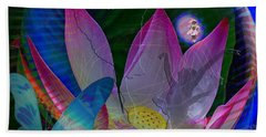 Lotus Flower Energy Beach Sheet