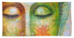 Lotus Meditation Buddha Beach Towel