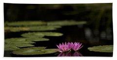 Lotus Reflections Beach Towel