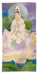 Lotus-sitting Avalokitesvara  Beach Towel