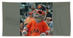 Lou Seal San Francisco Giants Mascot Beach Towel