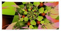 Beach Towel featuring the digital art Loud Bouquet by Elizabeth McTaggart