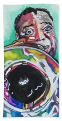 Louis Armstrong Beach Sheet by Chrisann Ellis