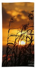 Beach Towel featuring the photograph Louisiana Marsh Sunset by Luana K Perez