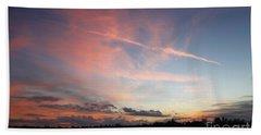 Beach Towel featuring the photograph Louisiana Sunset In Lacombe by Luana K Perez