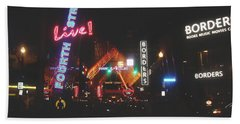 Louisville Kentucky Misty Nights Beach Sheet