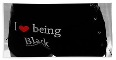 Love Being Black Beach Towel