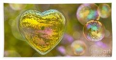 Love Bubble Beach Sheet