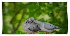 Love Doves  Beach Sheet